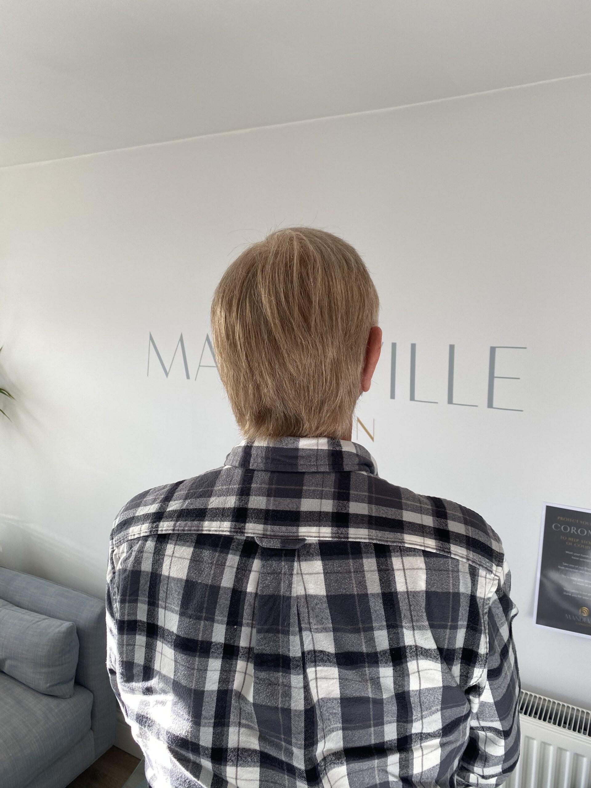 Mens Real Hair Wig